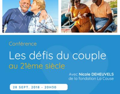 """Conférence """"Les défis du couple au 21ème siècle"""""""