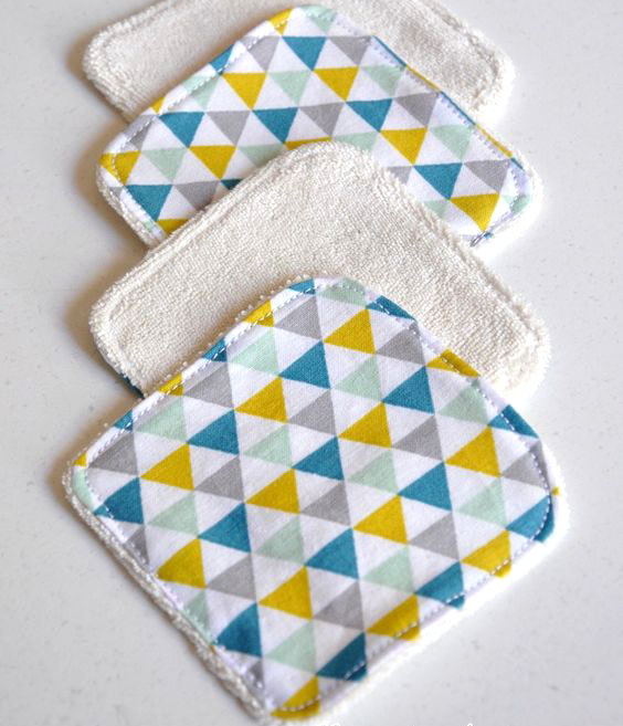 Carrés démaquillants en tissu
